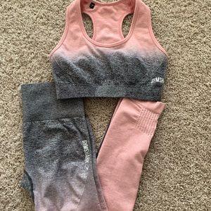 Gymshark: pink ombré set